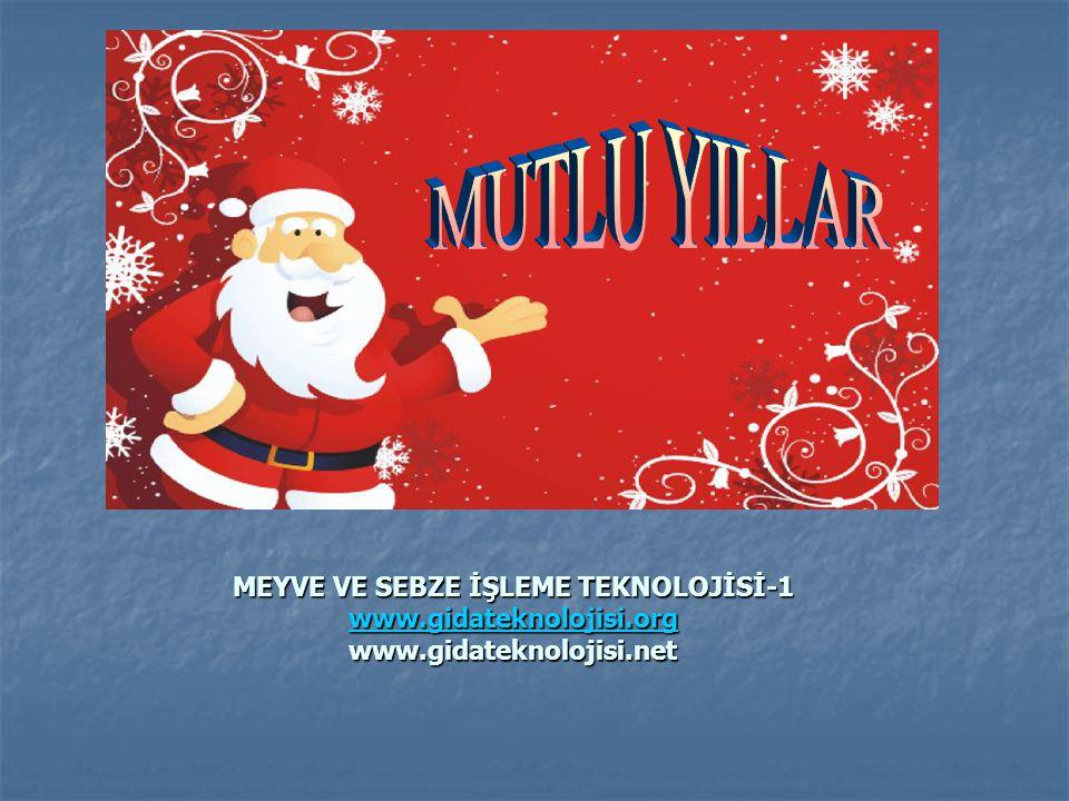 MUTLU YILLAR MEYVE VE SEBZE İŞLEME TEKNOLOJİSİ-1 www.gidateknolojisi.org www.gidateknolojisi.net