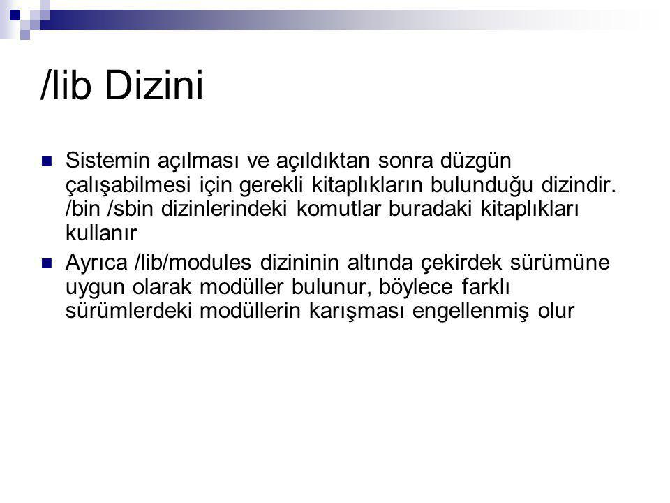 /lib Dizini