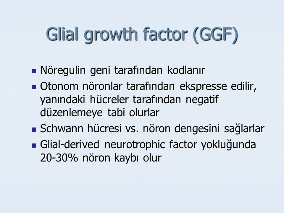 Glial growth factor (GGF)