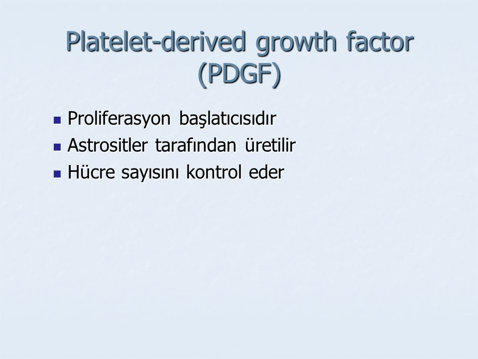 Platelet-derived growth factor (PDGF)