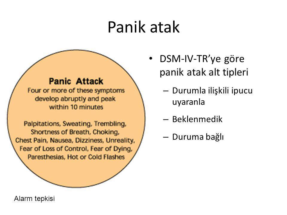 Panik atak DSM-IV-TR'ye göre panik atak alt tipleri
