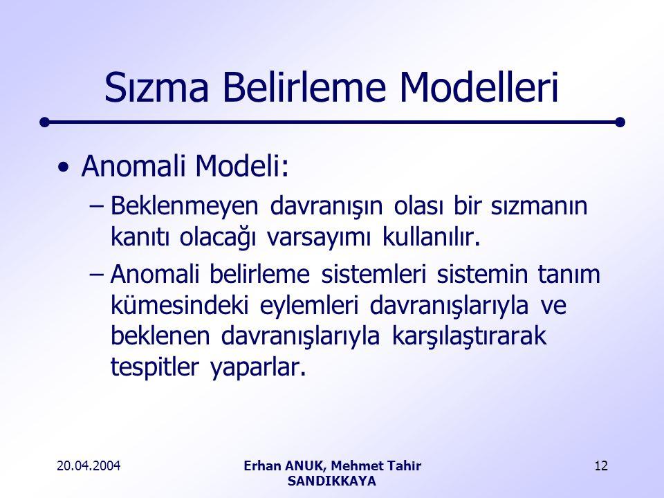 Sızma Belirleme Modelleri