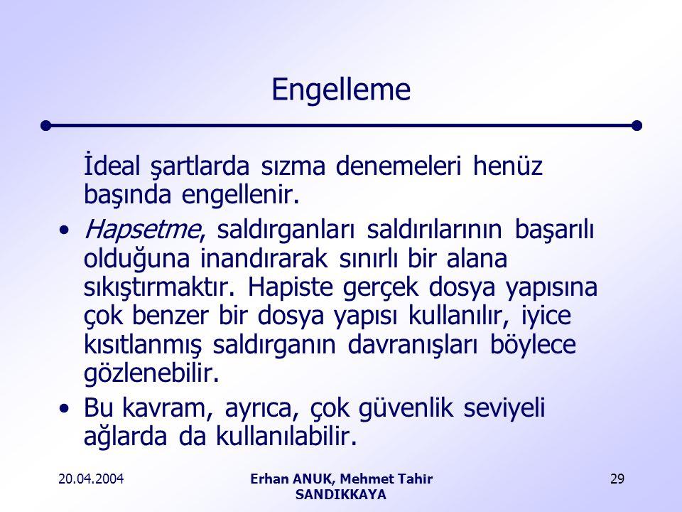 Erhan ANUK, Mehmet Tahir SANDIKKAYA