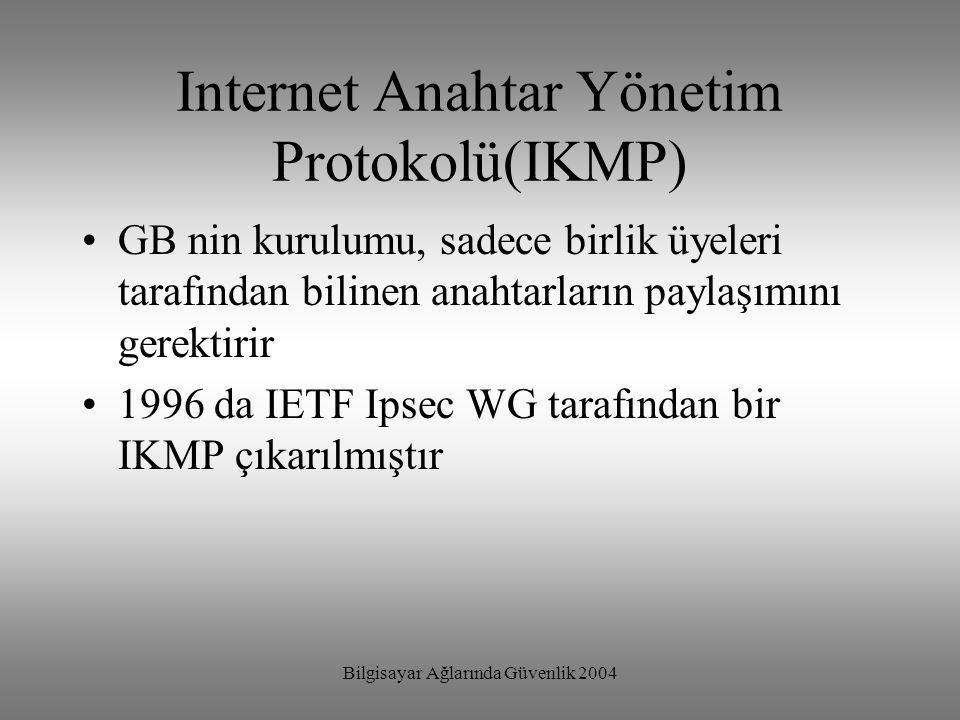 Internet Anahtar Yönetim Protokolü(IKMP)