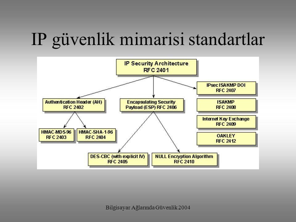 IP güvenlik mimarisi standartlar