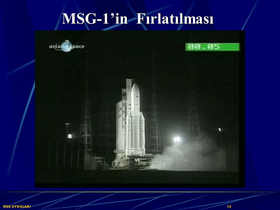 MSG-1'in Fırlatılması MSG UYDULARI 13