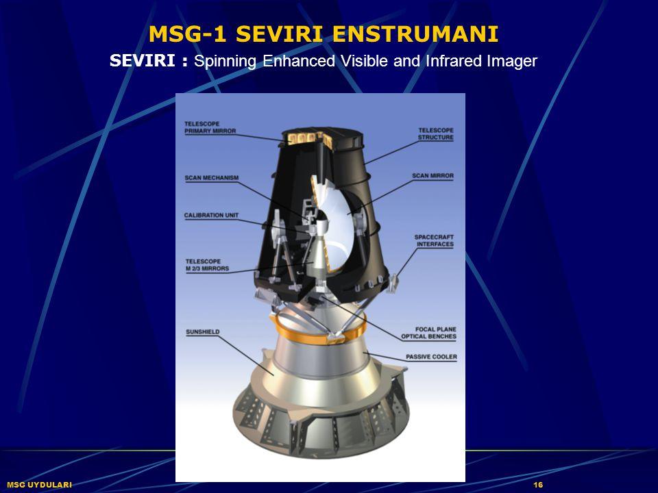 MSG-1 SEVIRI ENSTRUMANI