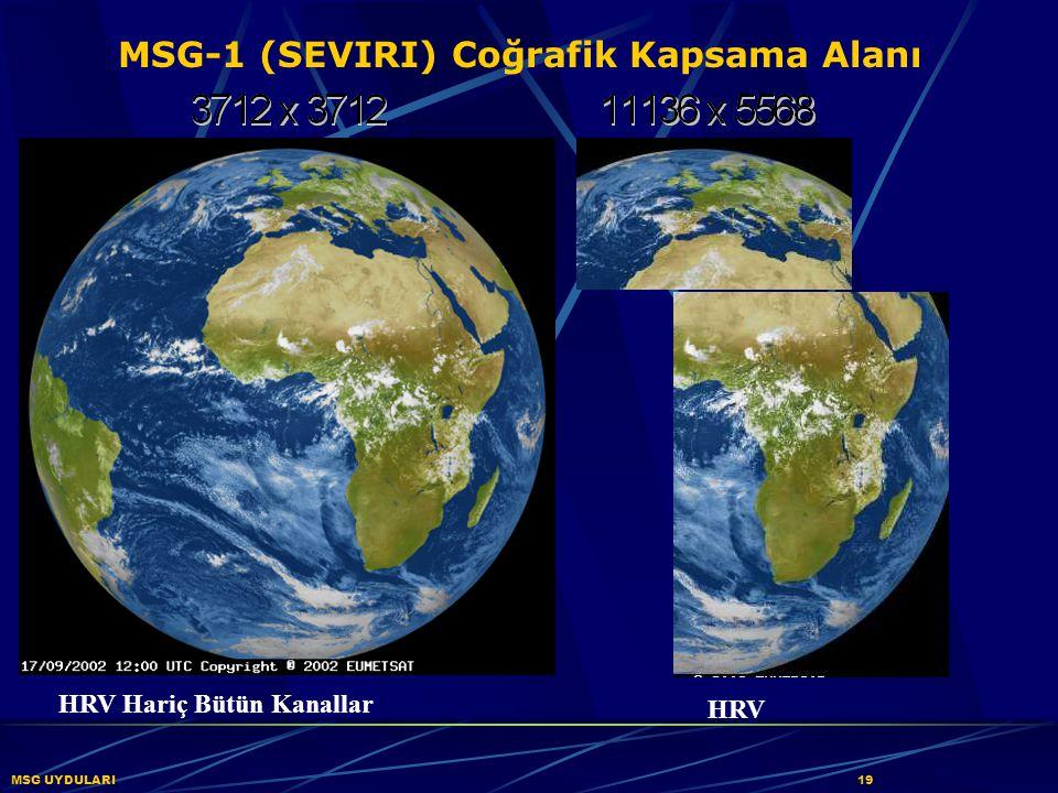 MSG-1 (SEVIRI) Coğrafik Kapsama Alanı