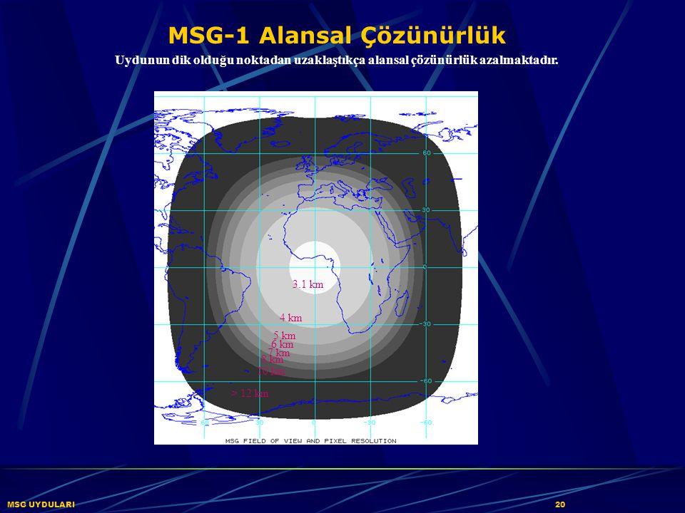 MSG-1 Alansal Çözünürlük