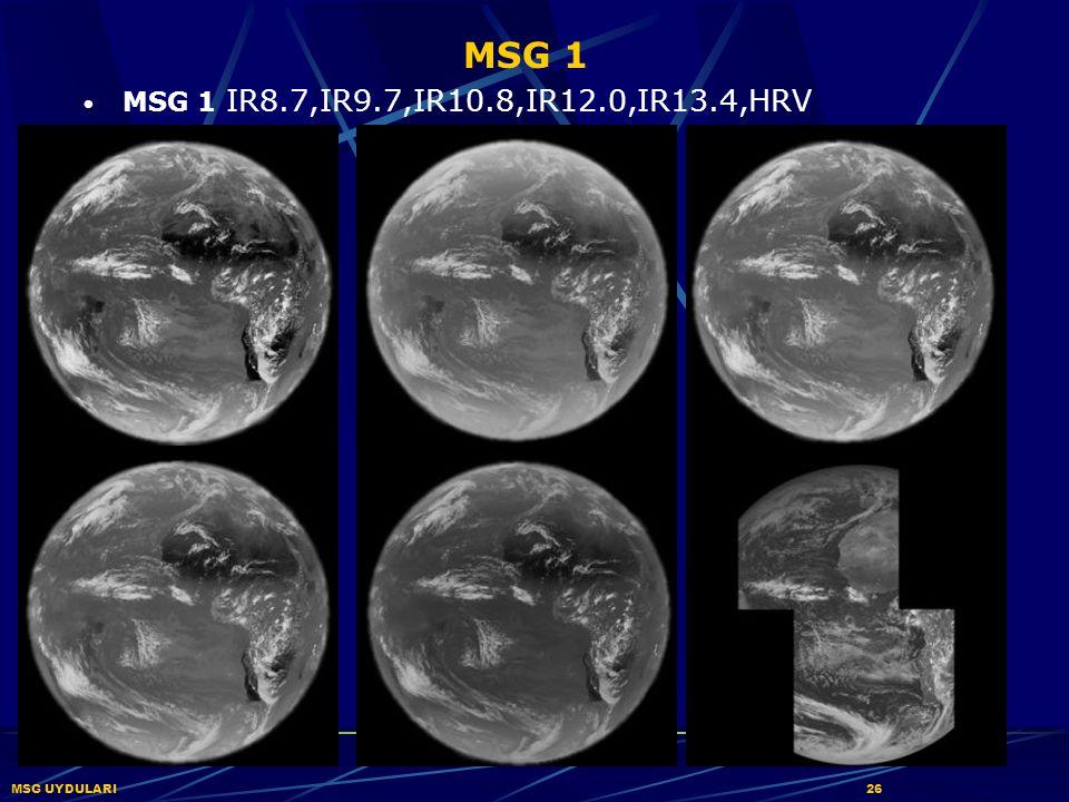 MSG 1 MSG 1 IR8.7,IR9.7,IR10.8,IR12.0,IR13.4,HRV MSG UYDULARI 26