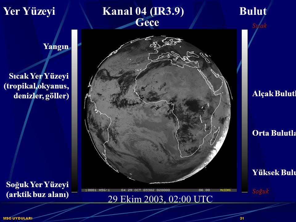 Yer Yüzeyi Kanal 04 (IR3.9) Bulut Gece