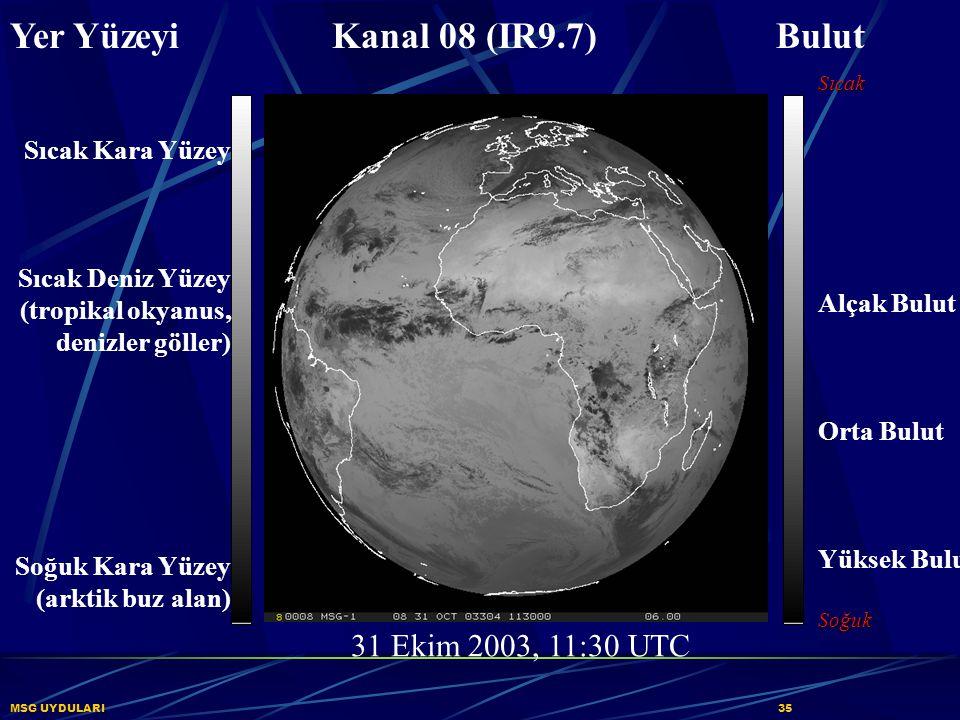 Yer Yüzeyi Kanal 08 (IR9.7) Bulut