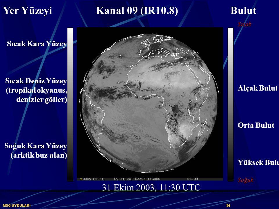 Yer Yüzeyi Kanal 09 (IR10.8) Bulut