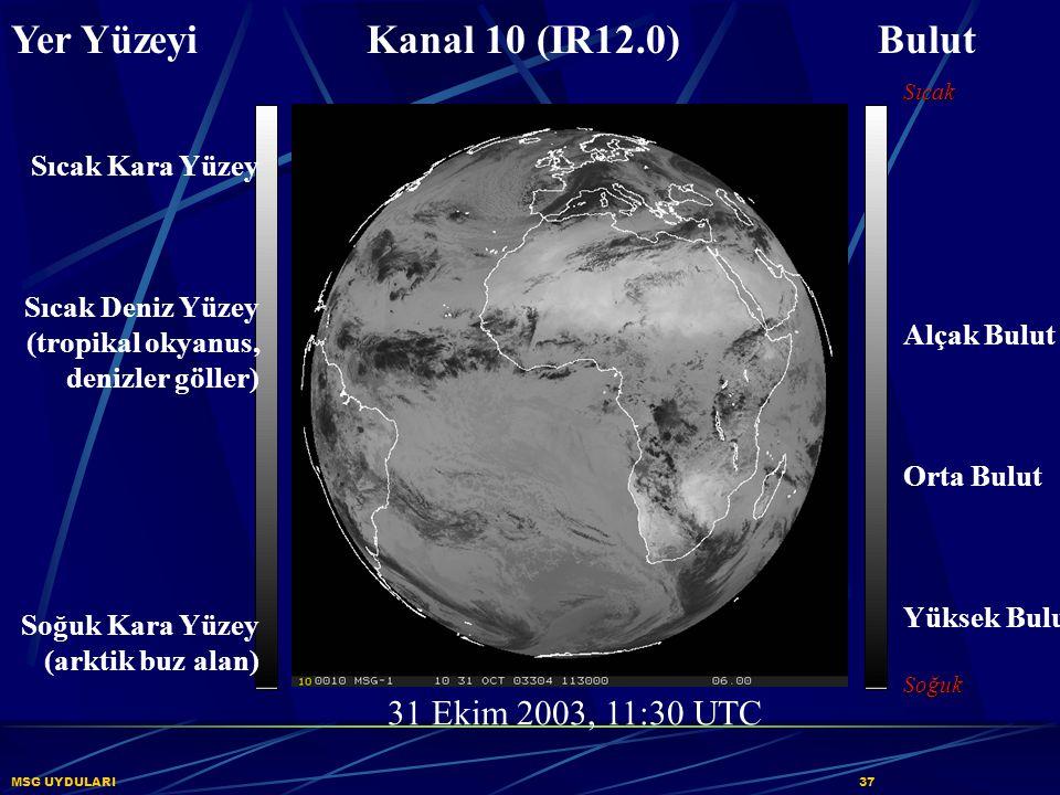 Yer Yüzeyi Kanal 10 (IR12.0) Bulut