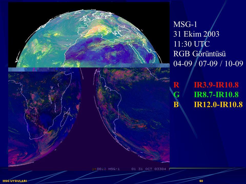MSG-1 31 Ekim 2003 11:30 UTC RGB Görüntüsü 04-09 / 07-09 / 10-09