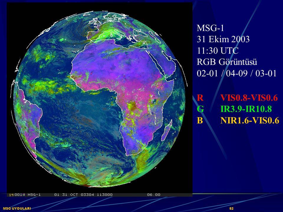 MSG-1 31 Ekim 2003 11:30 UTC RGB Görüntüsü 02-01 / 04-09 / 03-01