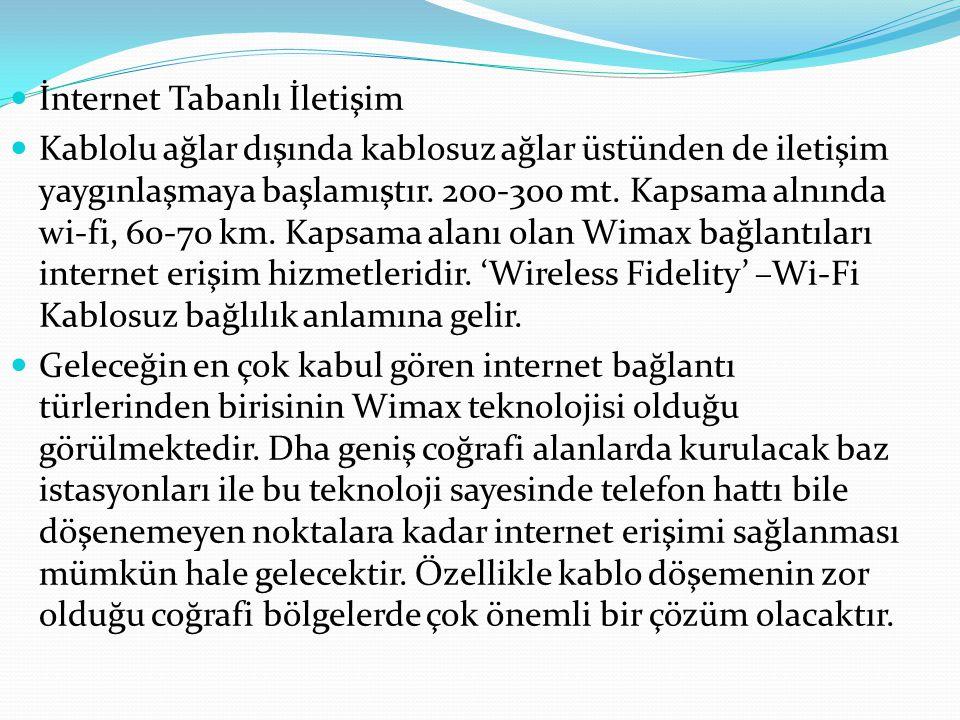 İnternet Tabanlı İletişim