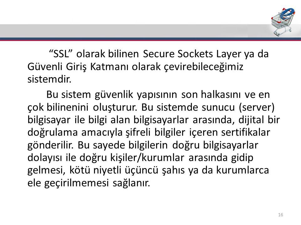 Güvenlik(SSL)