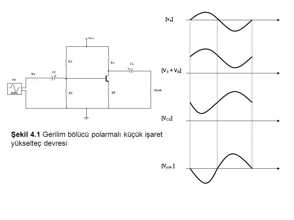 Şekil 4.1 Gerilim bölücü polarmalı küçük işaret yükselteç devresi