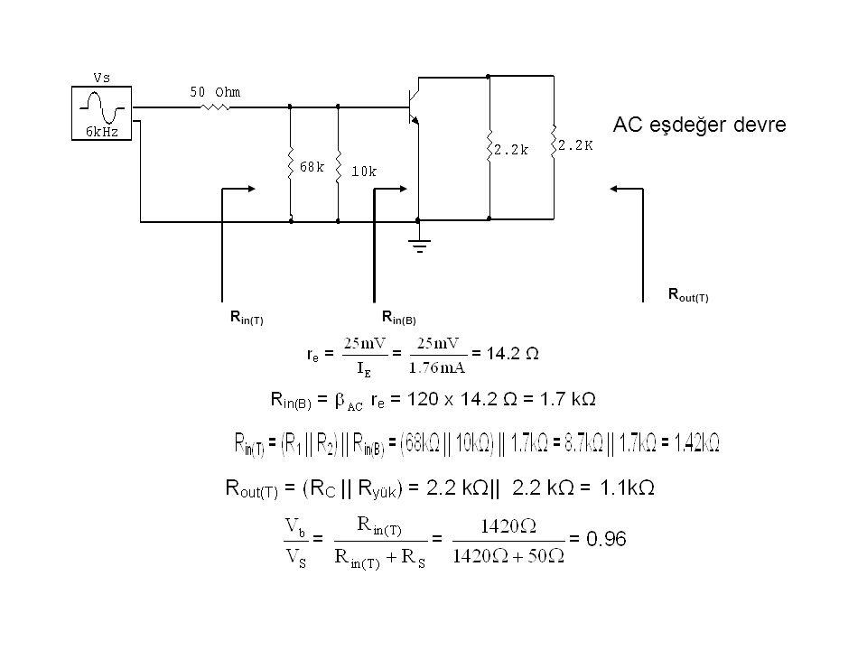 AC eşdeğer devre Rin(B) Rin(T) Rout(T)