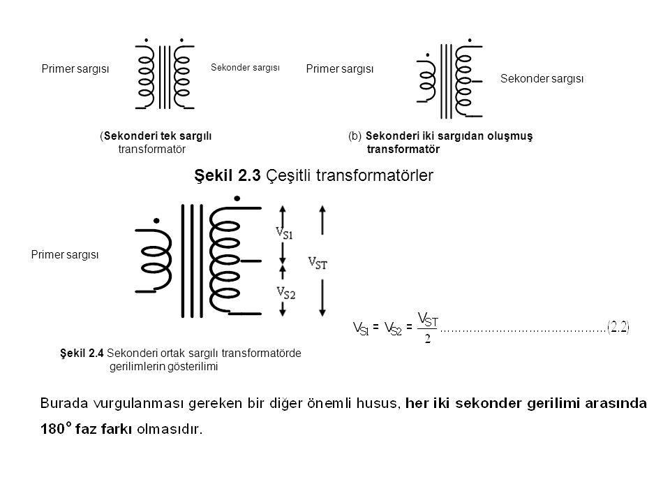 Şekil 2.3 Çeşitli transformatörler