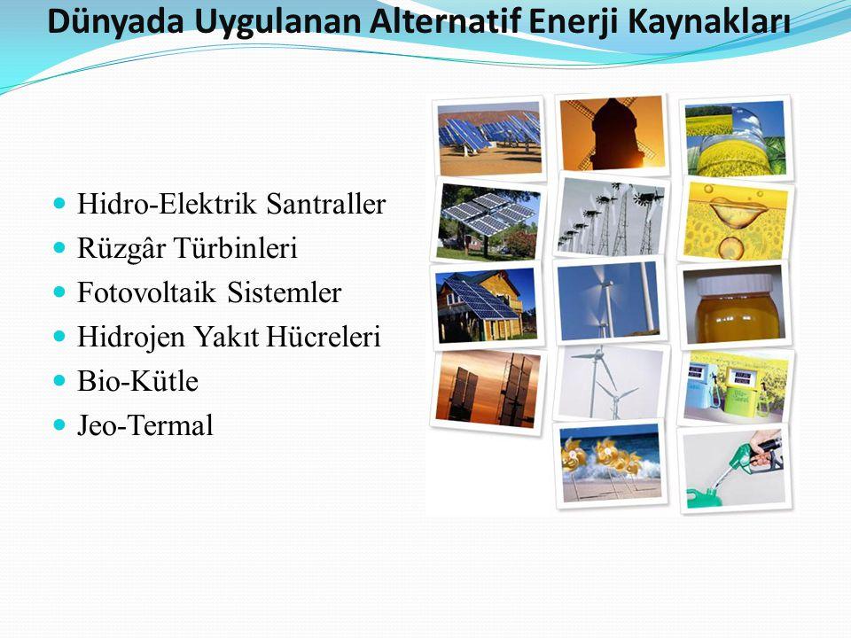 Dünyada Uygulanan Alternatif Enerji Kaynakları