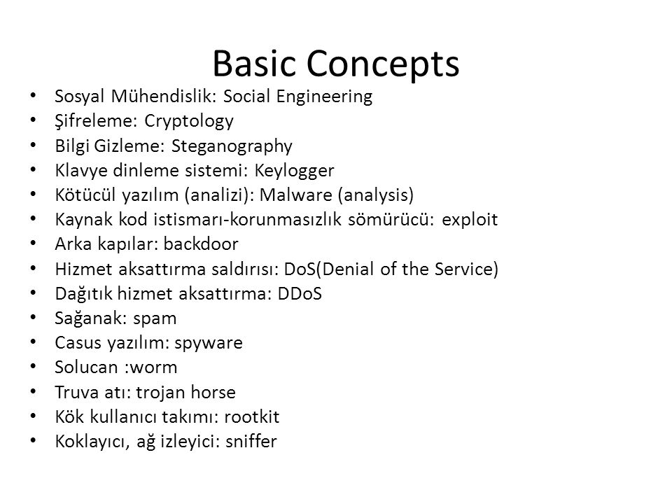 Basic Concepts Sosyal Mühendislik: Social Engineering