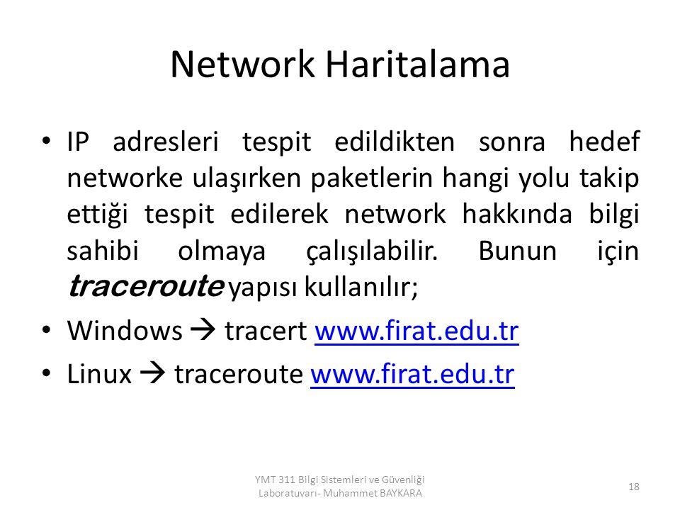 YMT 311 Bilgi Sistemleri ve Güvenliği Laboratuvarı- Muhammet BAYKARA