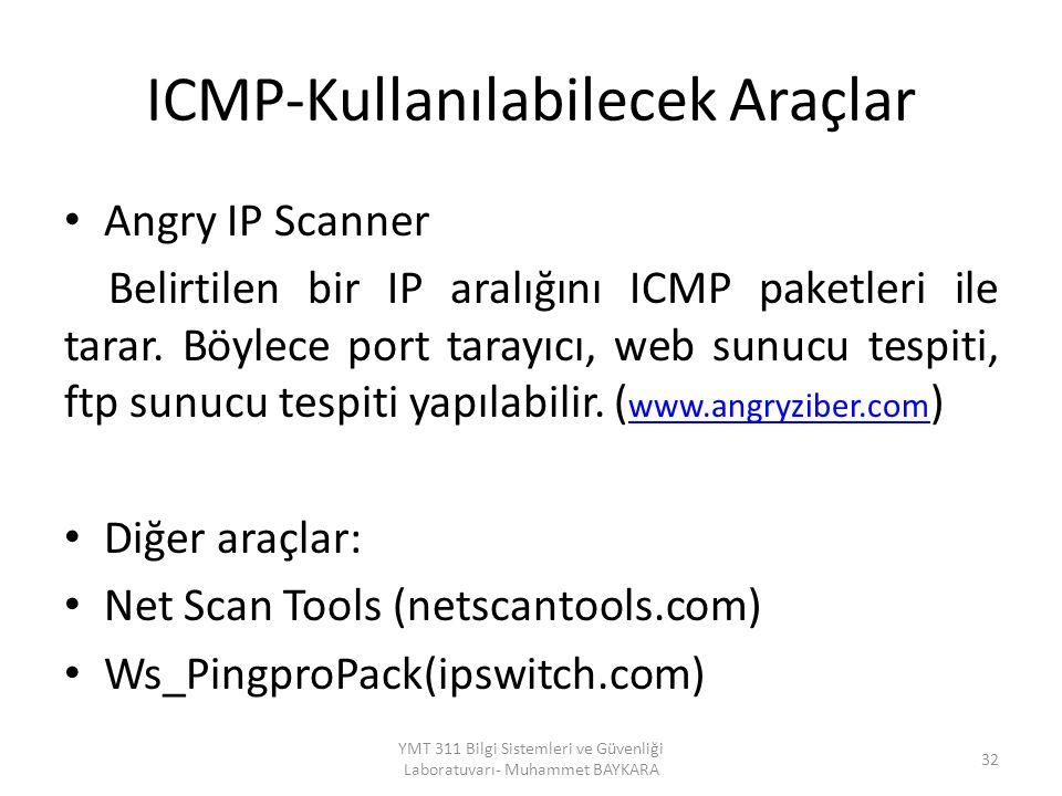 ICMP-Kullanılabilecek Araçlar