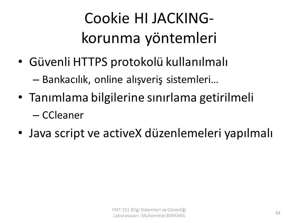 Cookie HI JACKING- korunma yöntemleri