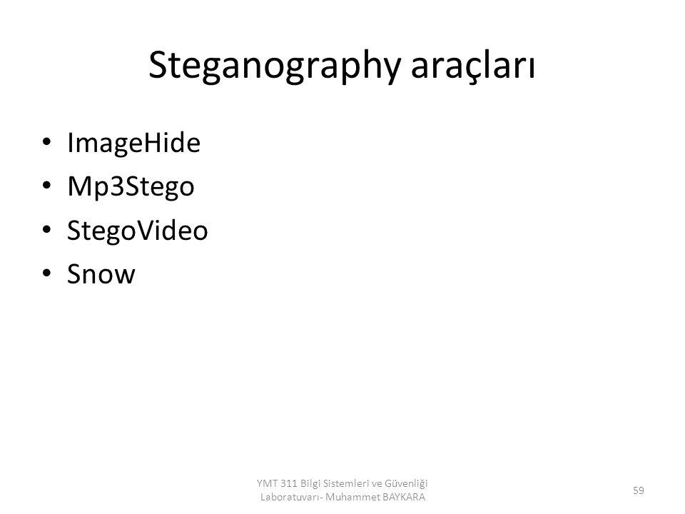 Steganography araçları