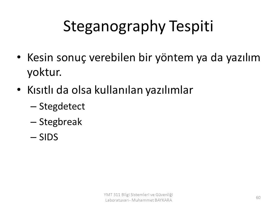 Steganography Tespiti