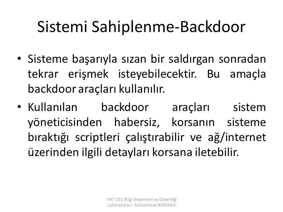 Sistemi Sahiplenme-Backdoor