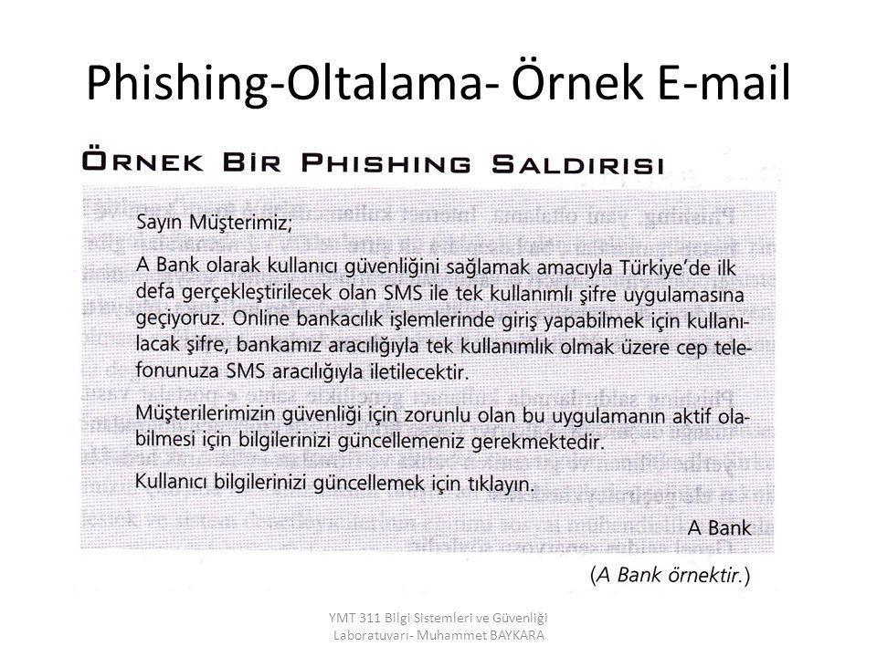 Phishing-Oltalama- Örnek E-mail