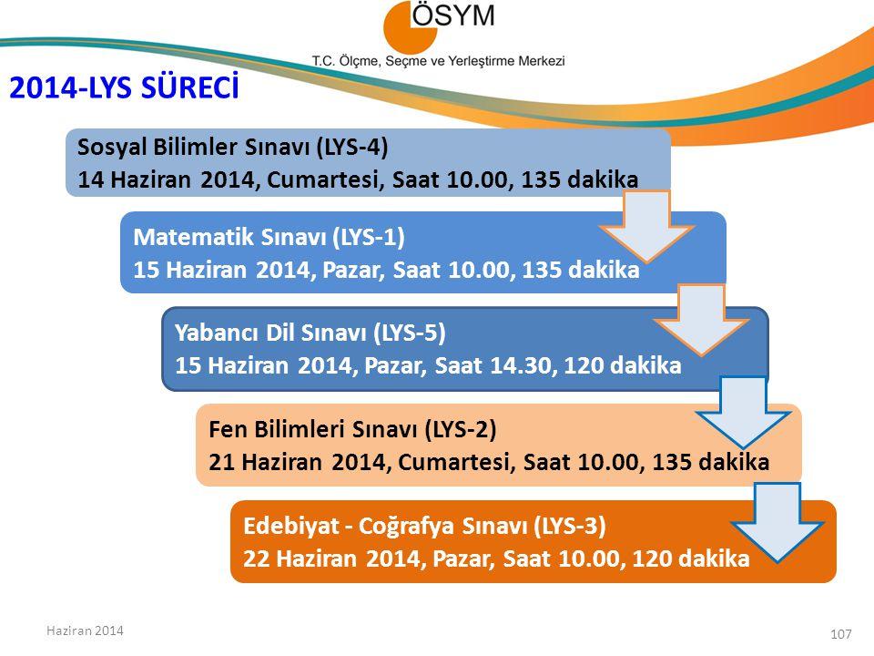 2014-LYS SÜRECİ Sosyal Bilimler Sınavı (LYS-4)