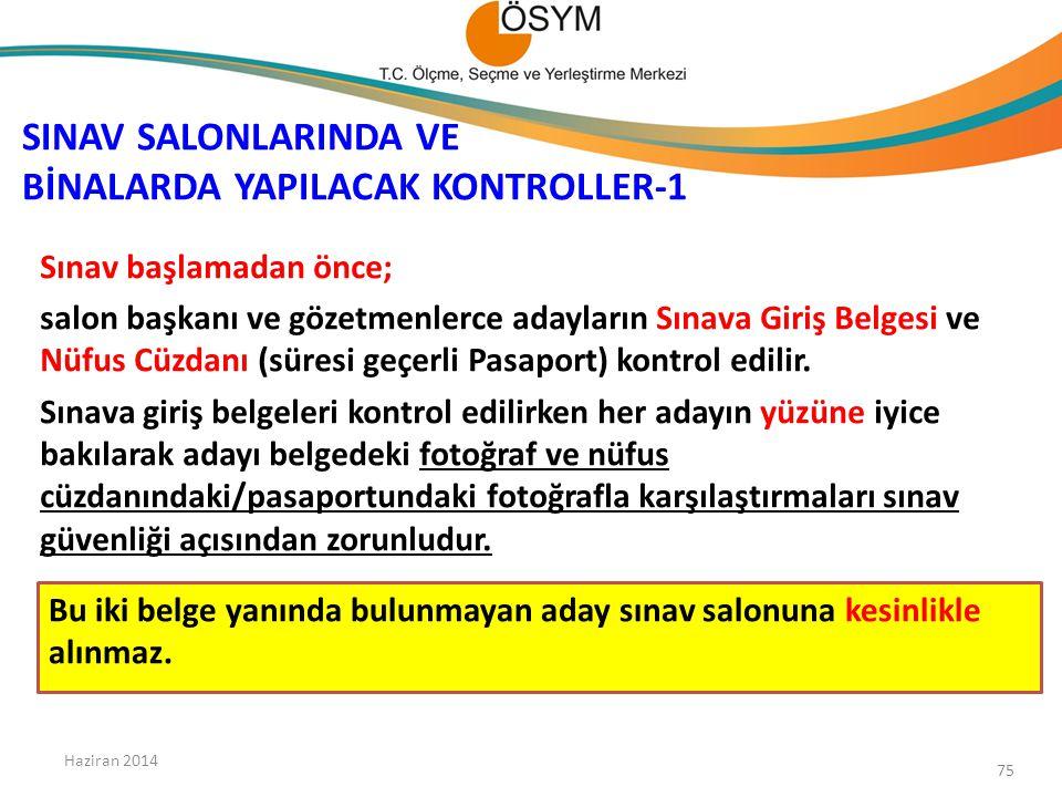 SINAV SALONLARINDA VE BİNALARDA YAPILACAK KONTROLLER-1