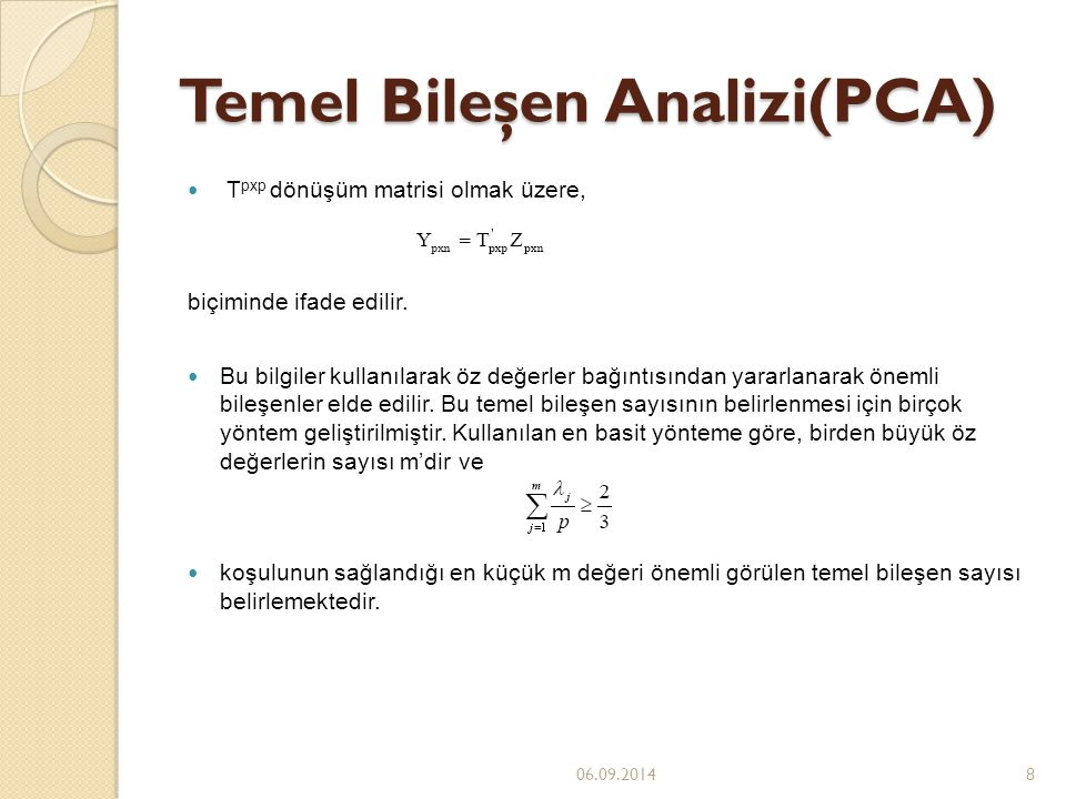 Temel Bileşen Analizi(PCA)