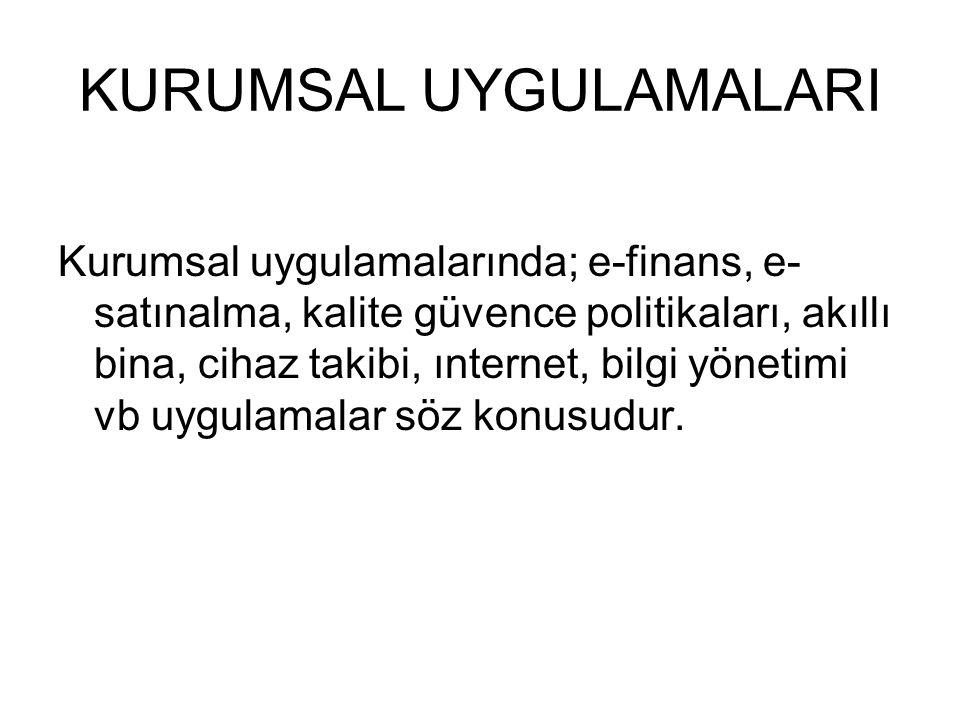 KURUMSAL UYGULAMALARI