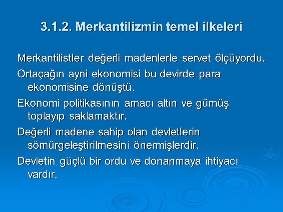 3.1.2. Merkantilizmin temel ilkeleri