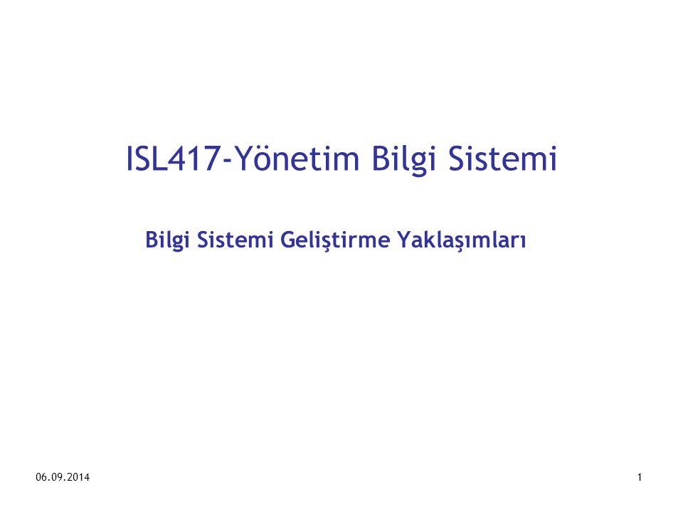 ISL417-Yönetim Bilgi Sistemi