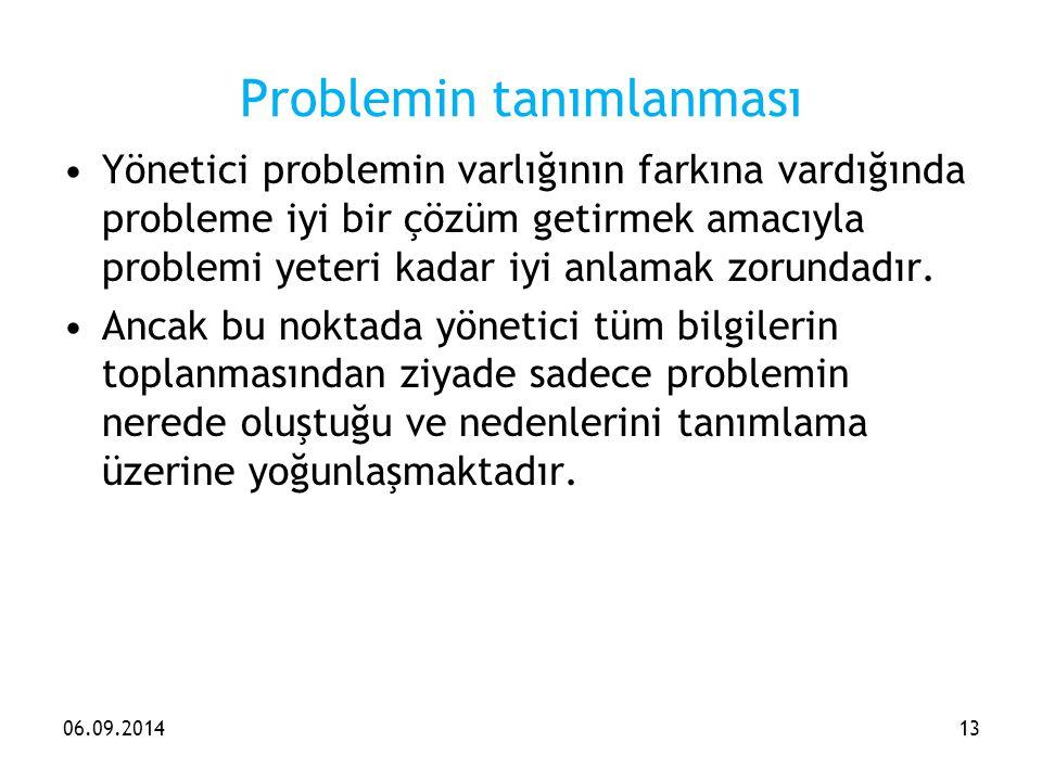 Problemin tanımlanması