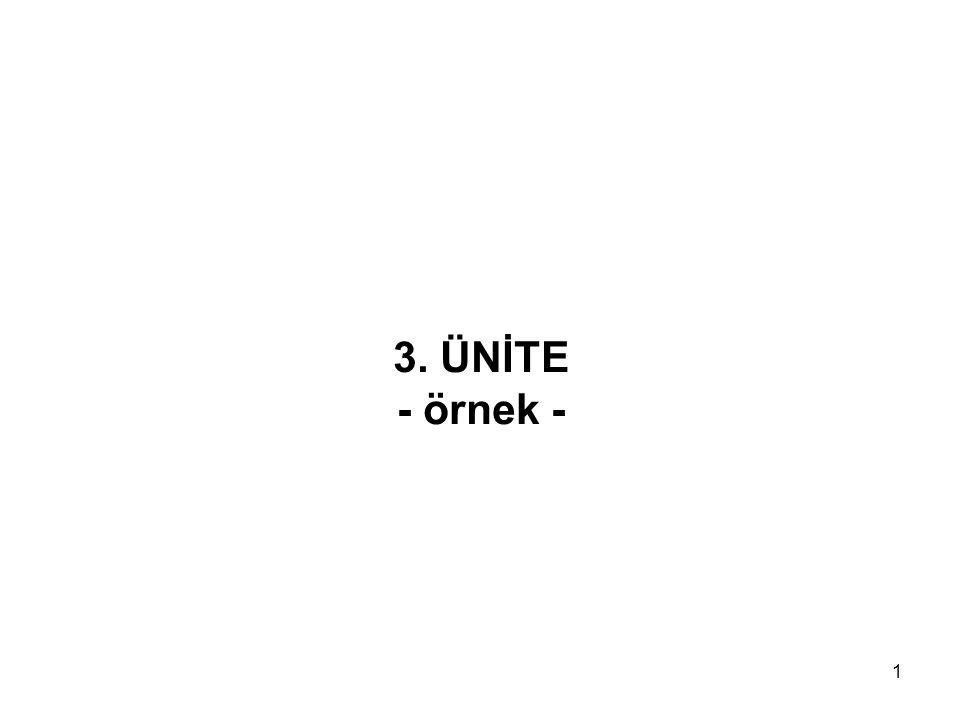 3. ÜNİTE - örnek -