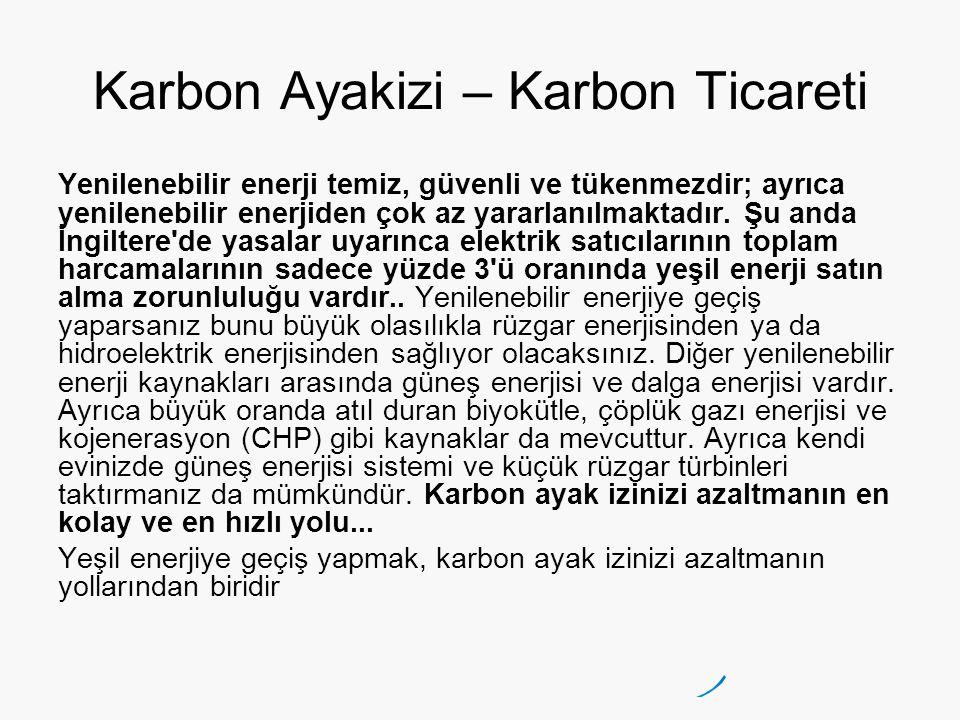 Karbon Ayakizi – Karbon Ticareti
