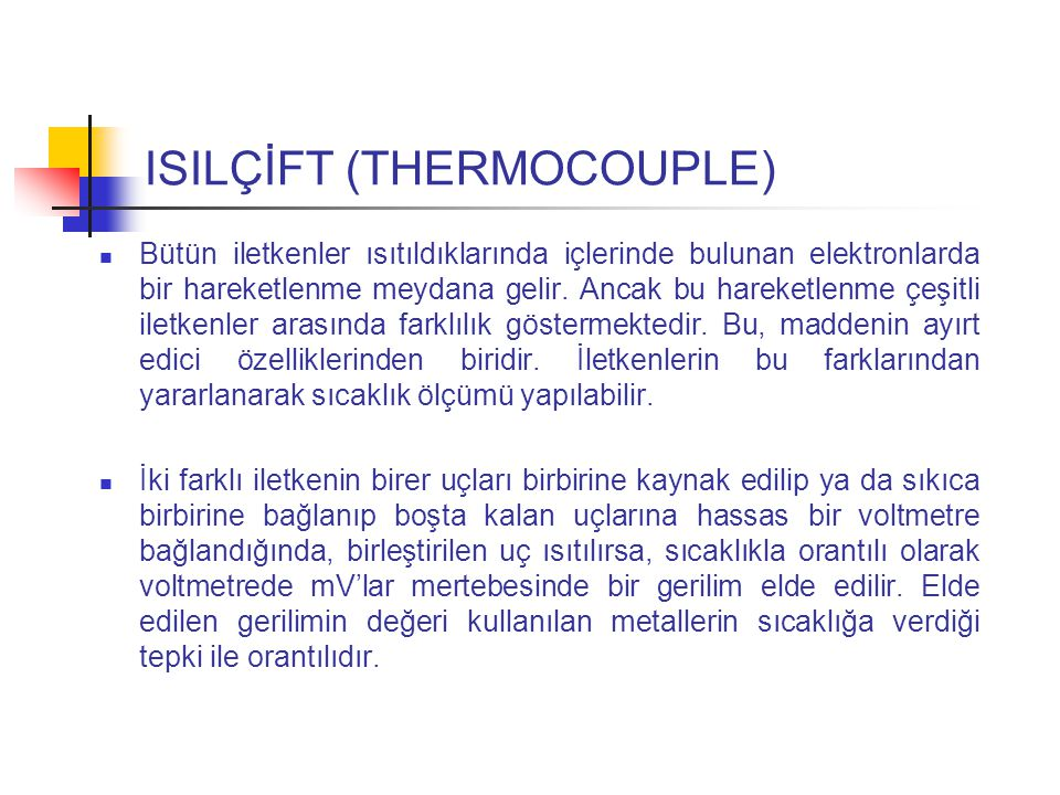 ISILÇİFT (THERMOCOUPLE)