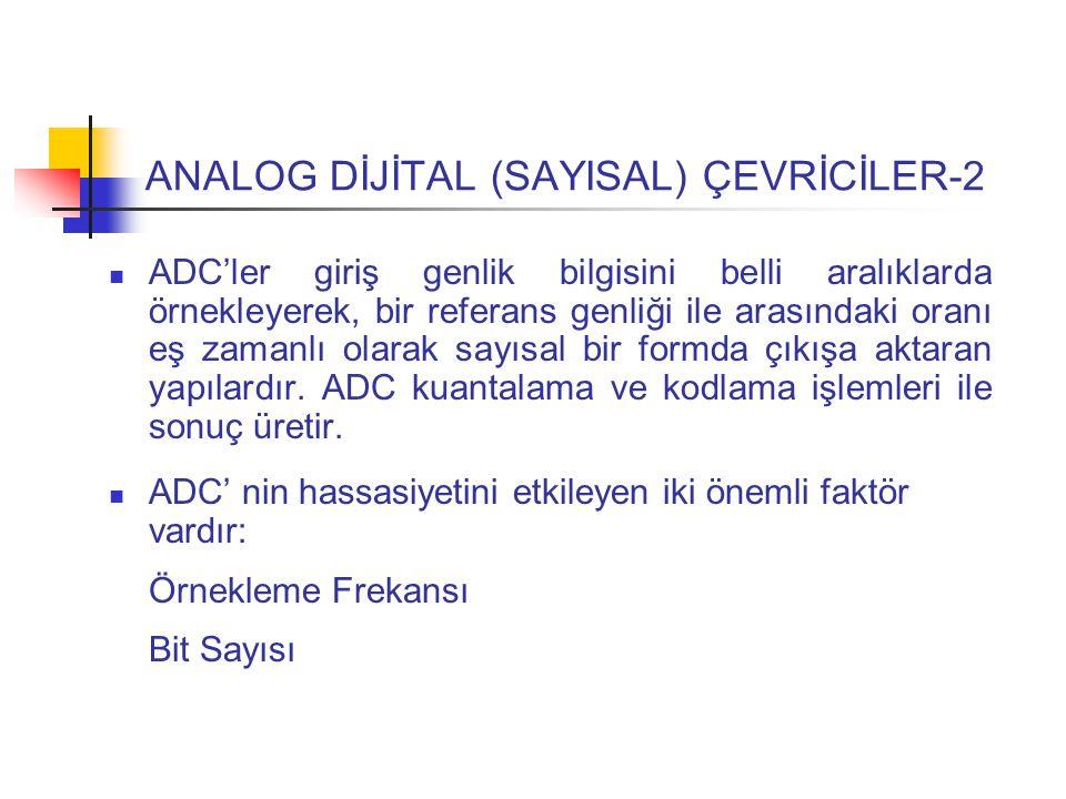 ANALOG DİJİTAL (SAYISAL) ÇEVRİCİLER-2