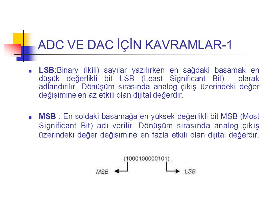 ADC VE DAC İÇİN KAVRAMLAR-1
