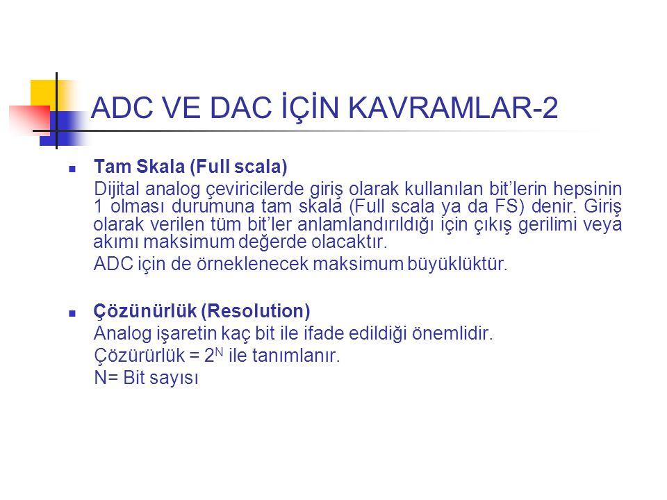 ADC VE DAC İÇİN KAVRAMLAR-2