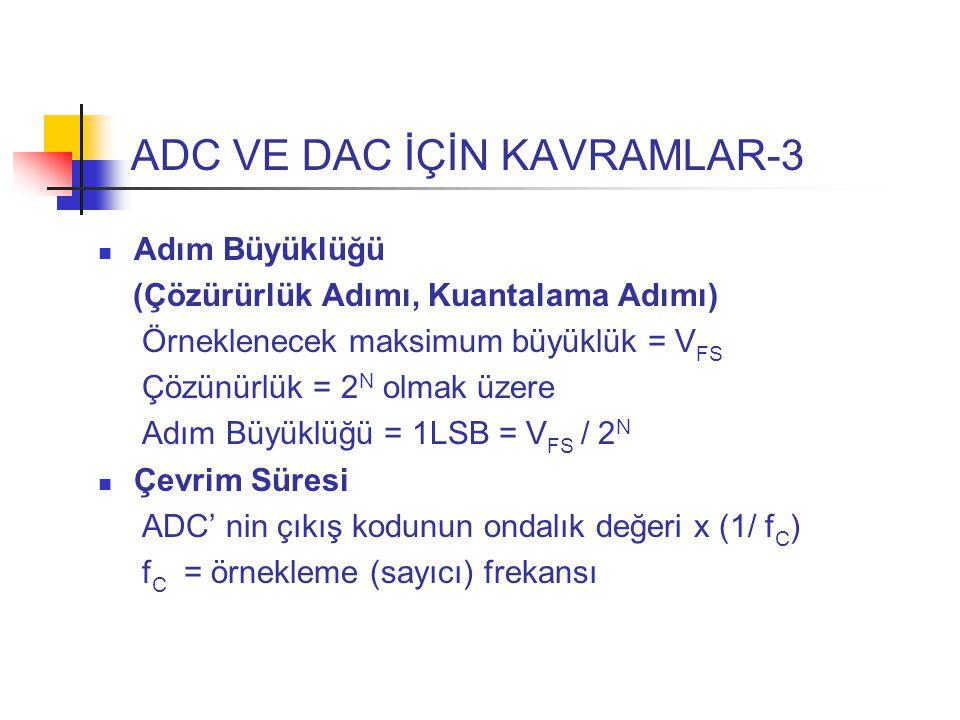 ADC VE DAC İÇİN KAVRAMLAR-3