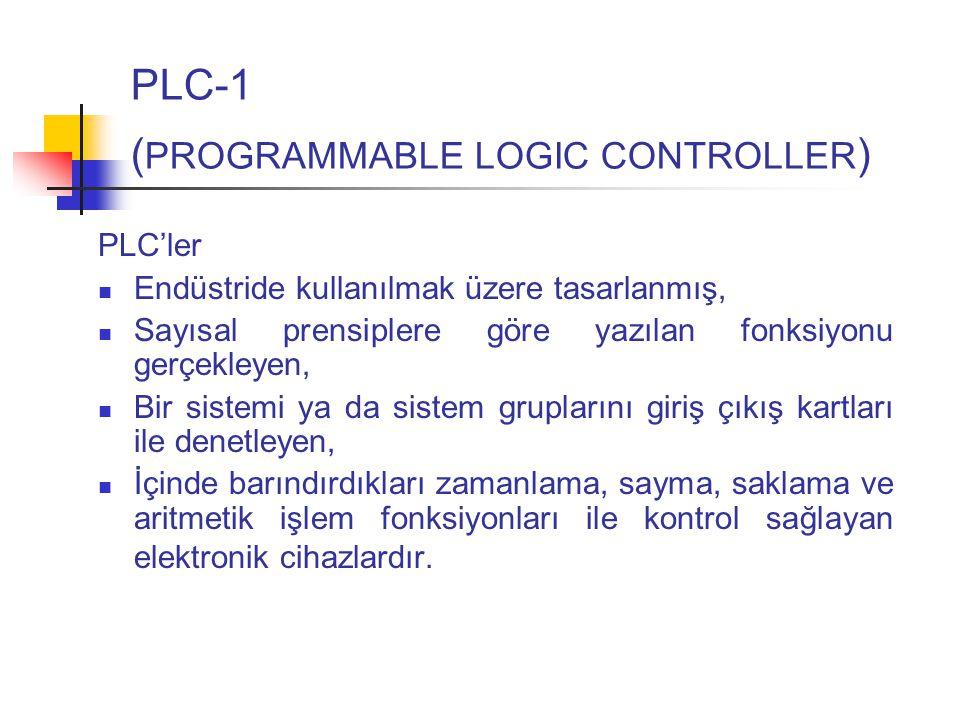 PLC-1 (PROGRAMMABLE LOGIC CONTROLLER)