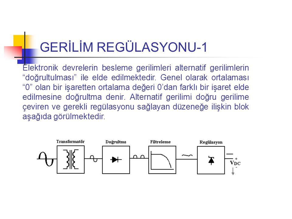 GERİLİM REGÜLASYONU-1